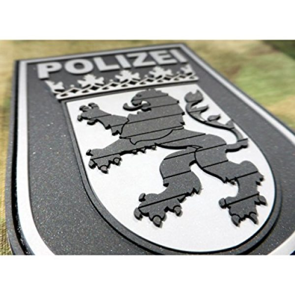 Jackets To Go Airsoft Morale Patch 3 Jackets To Go JTG German Police Hessen 3D Patch - blackops