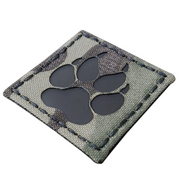 Tactical Freaky Airsoft Morale Patch 1 Multicam Infrared IR K9 Dog Handler Paw K-9 2x2 Tactical Morale Hook-and-Loop Patch