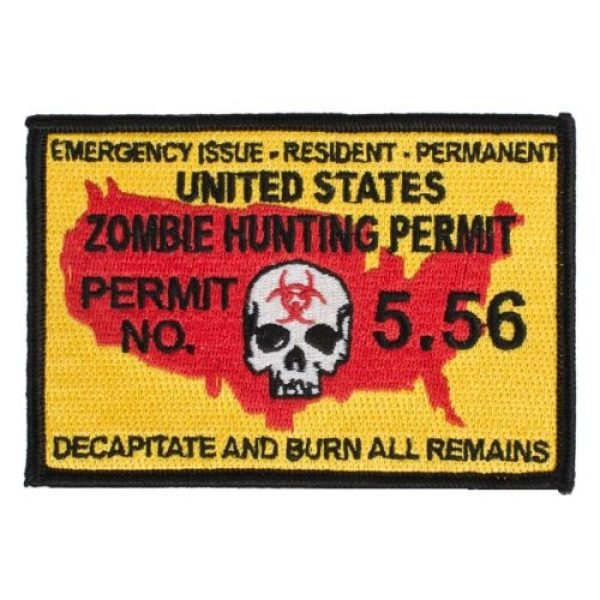 A-Plus Trading Airsoft Morale Patch 1 Pantel Tactical Zombie Hunting Permit IFF Morale Patch