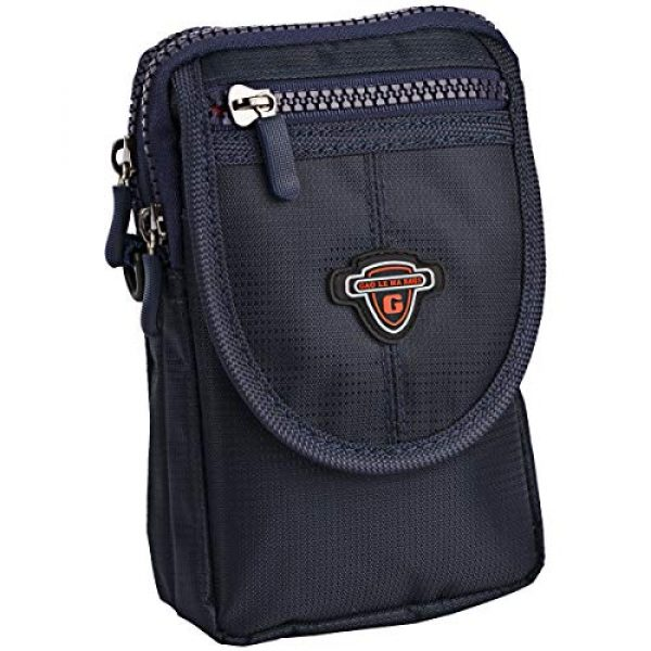 IronSeals Tactical Pouch 1 IronSeals AQ Tactical Waterproof Shoulder Tape Molle EDC Belt Waist Pouch Bag Zipper Tough D-Ring Hook & Loop Three Interlayer Wallet for Phone