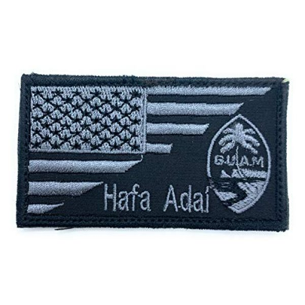 Almost SGT Airsoft Morale Patch 1 USA Guam Flag Hafa Adal - Funny Tactical Military Morale Embroidered Patch Hook Backing