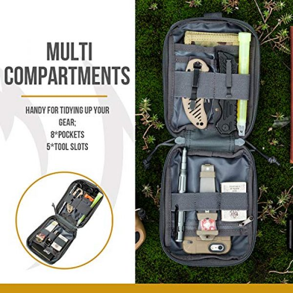 OneTigris Tactical Pouch 4 OneTigris BLADE Multiuse Tool Holder Pouch MOLLE Organizer with Pockets & Tool Slots