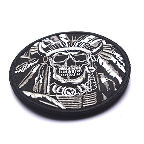 WZT Airsoft Morale Patch 3 WZT Death Skull War Chief Indian Usa Army Morale Military Tactical Swat Patch