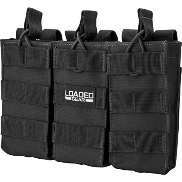 BARSKA Tactical Pouch 1 BARSKA Loaded Gear Tactical Triple Stacker Open Top Magazine M4 M16 AR15 Molle Mag Pouch