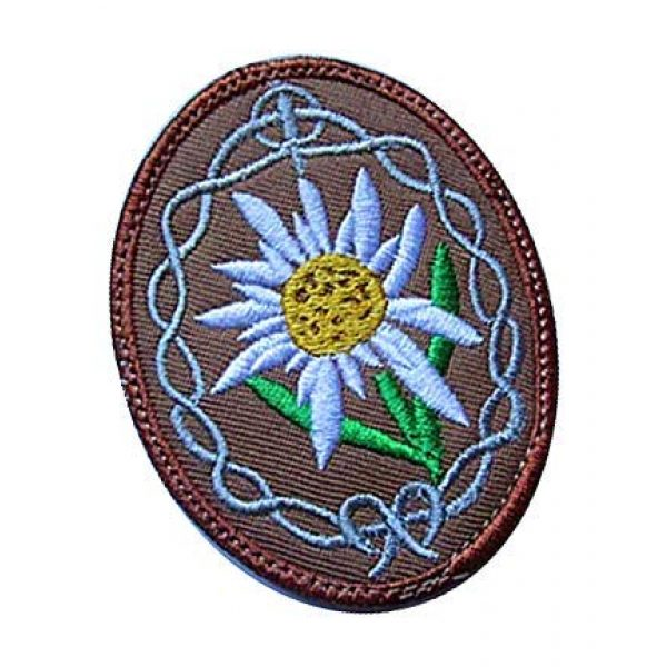 Embroidery Patch Airsoft Morale Patch 2 WWII German Mountain Troops Elite Edelweiss Military Hook Loop Tactics Morale Embroidered Patch