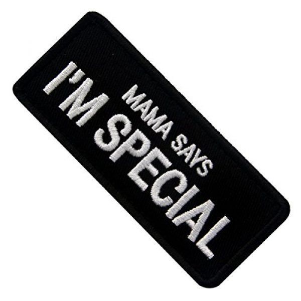 EmbTao Airsoft Morale Patch 4 Mama Says I'm Special Tactical Morale Emblem Embroidered Fastener Hook & Loop Patch