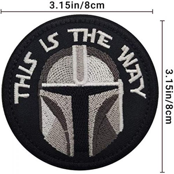 APBVIHL Airsoft Morale Patch 3 This is The Way Mandalorian Morale Patch, Fastener Hook and Loop Backing Tactical Military Embroidered Fabric Patches for Clothes Hat Backpack, 3.15 Inch, Bundle 2 Pieces