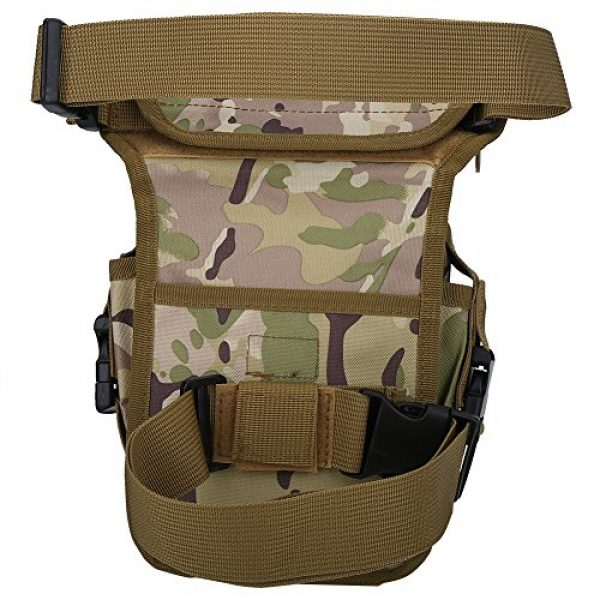 VGEBY Tactical Pouch 1 VGEBY Hunting Leg Pouch, Camouflage Drop Leg Thigh Packs Tactical Waist Pouch Satchel for Motorcycle Hunting Riding