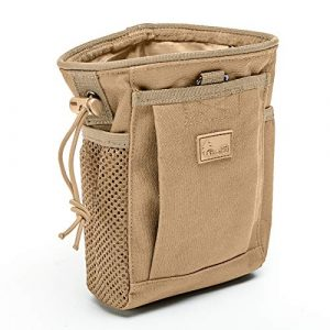 WOLF TACTICAL Tactical Pouch 1 WOLF TACTICAL Drawstring MOLLE Dump Pouch - EDC Drop Bag for Ammo, Magazines, Range Shooting, Hunting, Outdoor Sports