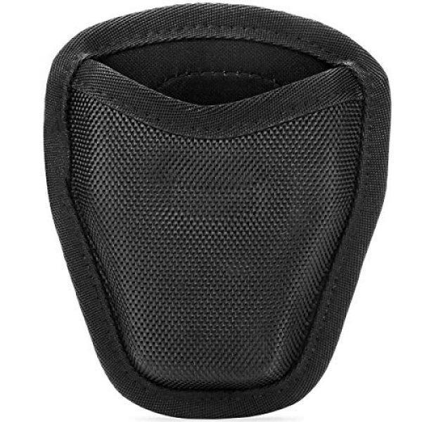 abcGoodefg Tactical Pouch 2 abcGoodefg Open Top Cuff Case Quick Release Cuff Holder Law Enforcement Nylon Handcuff Holder for Duty Belt Cuff Pouch with Belt Loop