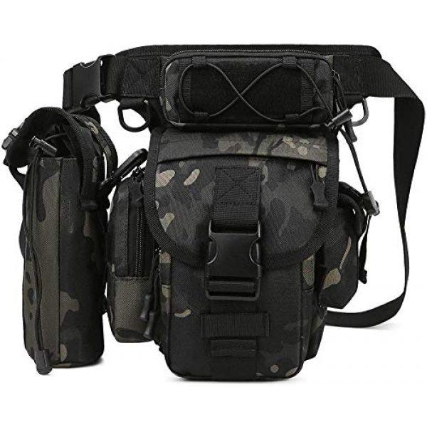 ACOMOO Tactical Pouch 1 ACOMOO Tactical Drop Leg Waist Bag Mens Outdoor Sport Thigh Hip Pack Utility Pouch Camo Black