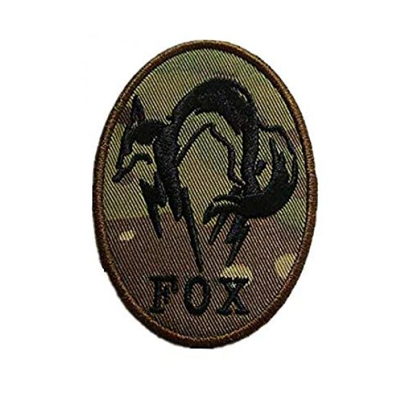 Embroidery Patch Airsoft Morale Patch 1 Fox Hound Metal Gear Solid Military Hook Loop Tactics Morale Embroidered Patch (color2)