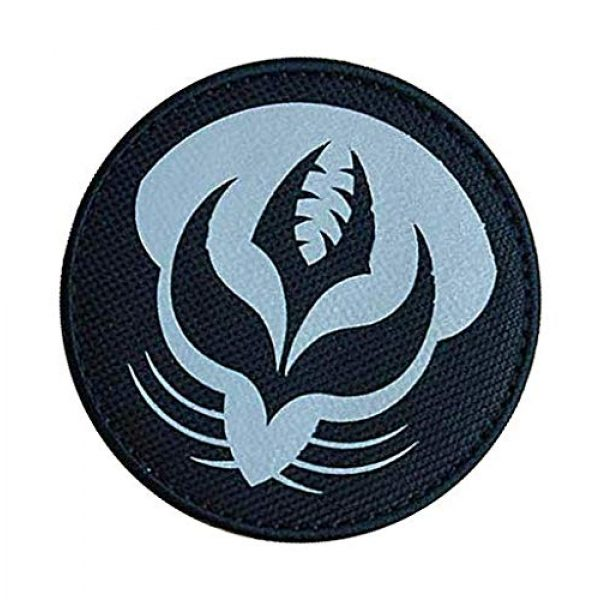 """Embroidery Patch Airsoft Morale Patch 3 SCP Foundation Special Containment Procedures Foundation SCP Mobile Task Forces Theta-4 Gardeners"""" Military Hook Loop Tactics Morale Reflective Patch"""