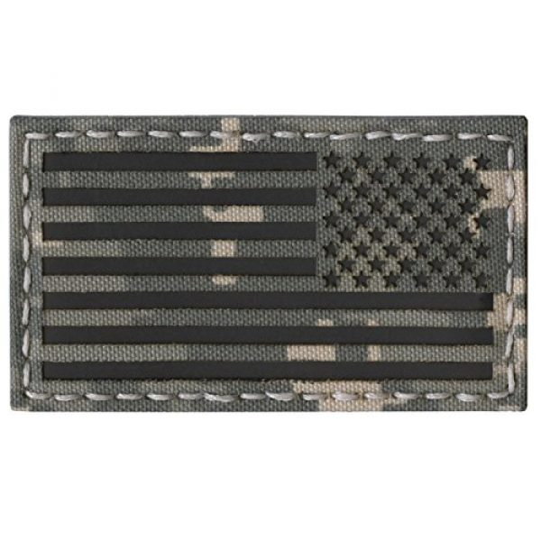 Tactical Freaky Airsoft Morale Patch 2 ACU Infrared IR USA American Reversed Flag 3.5x2 IFF Tactical Morale Fastener Patch