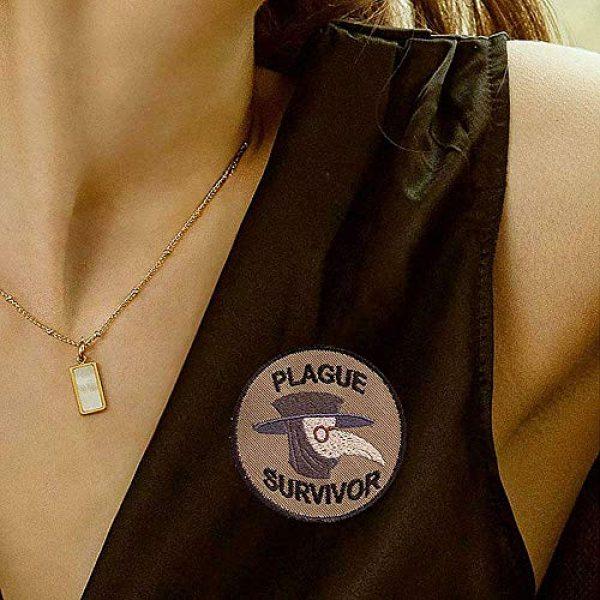 GMYQ Airsoft Morale Patch 4 Plague Survivor Geek Merit Badge Patch, Embroidered Morale Patch