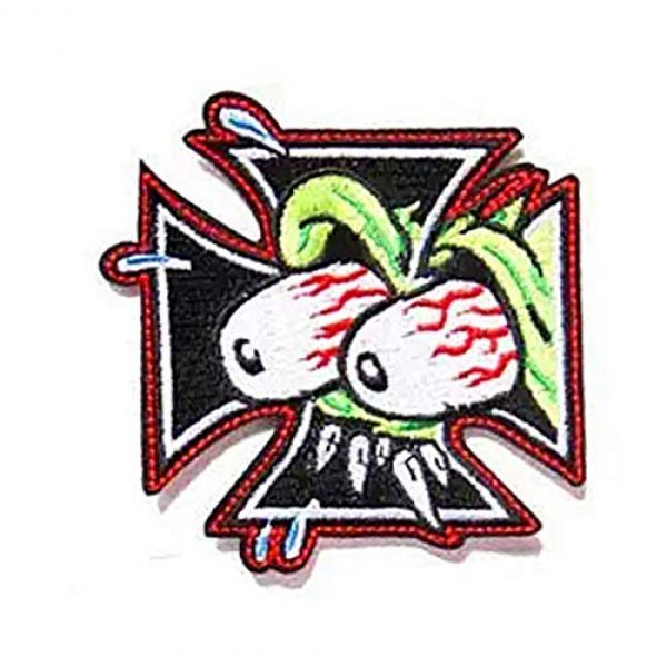 Embroidery Patch Airsoft Morale Patch 1 The Rat Fink Ed Roth Military Hook Loop Tactics Morale Embroidered Patch