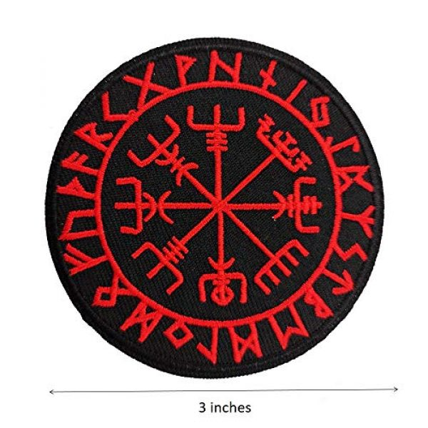 Cute-Patch Airsoft Morale Patch 4 Viking Compass Vegvisir Embroidered Iron on sew on Patch