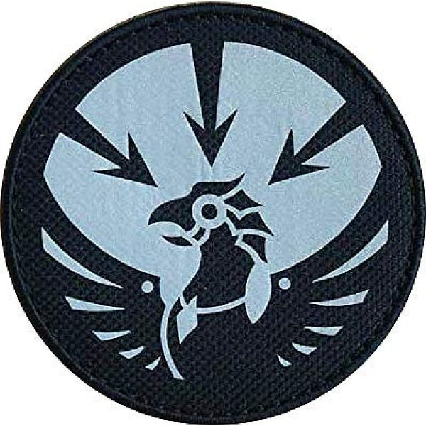 """Embroidery Patch Airsoft Morale Patch 1 SCP Foundation Special Containment Procedures Foundation SCP Mobile Task Forces Gamma-13 Asimov's Lawbringers"""" Military Hook Loop Tactics Morale Reflective Patch"""