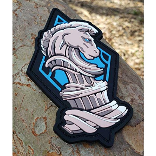 """Generic Airsoft Morale Patch 2 PVC Chess Knight Morale Tactical Patch with Hook and Loop Backing, 5"""" tall"""