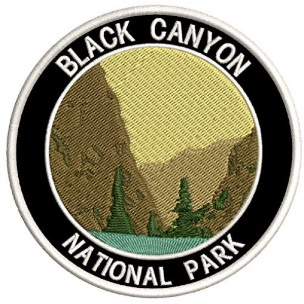 """Appalachian Spirit Airsoft Morale Patch 1 Black Canyon National Park 3.5"""" Embroidered Patch DIY Iron or Sew-on Decorative Vacation Souvenir Applique Wander Nature Wildlife Hike Trek Camping Explore Mountains Stars Moon Scout Guide Ranger"""
