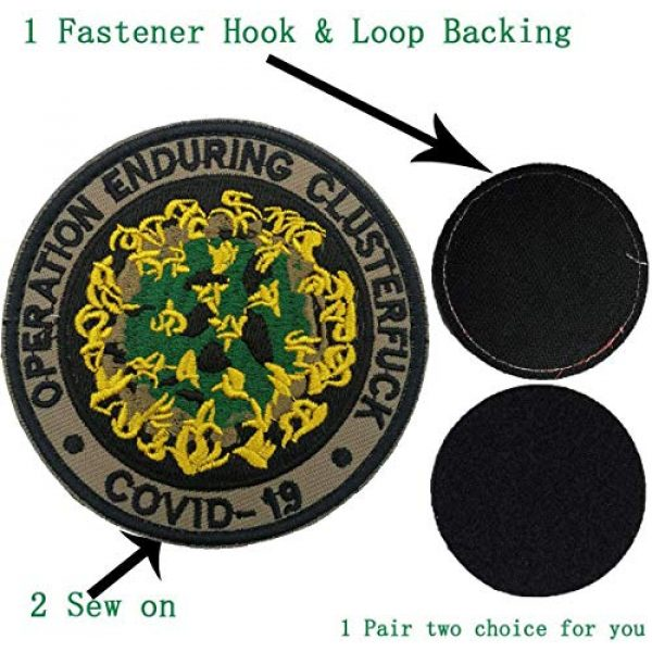 APBVIHL Airsoft Morale Patch 6 4 PCS Operation Enduring Cluster Fuck Outbreak Team Response Embroidered Patch, Brotherhood Essential Workers Embroidery Patches, Tactical Military Morale Applique Badge Fastener Hook and Loop Backing