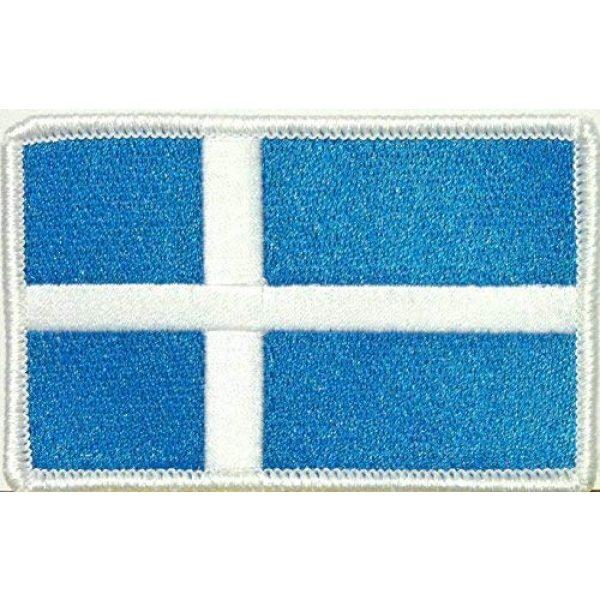 Fast Service Designs Airsoft Morale Patch 1 Shetland Flag Patch with Hook & Loop Patriotic Morale Shoulder Emblem White Border Version #39