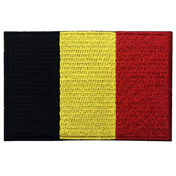 EmbTao Airsoft Morale Patch 1 Belgium Flag Embroidered Belgian National Emblem Iron On Sew On Patch