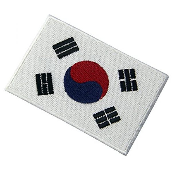 EmbTao Airsoft Morale Patch 3 South Korea Flag Embroidered Korean National Emblem Iron On Sew On Patch