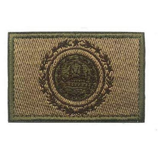 Embroidery Patch Airsoft Morale Patch 1 US New Hampshire State Flag Military Hook Loop Tactics Morale Embroidered Patch