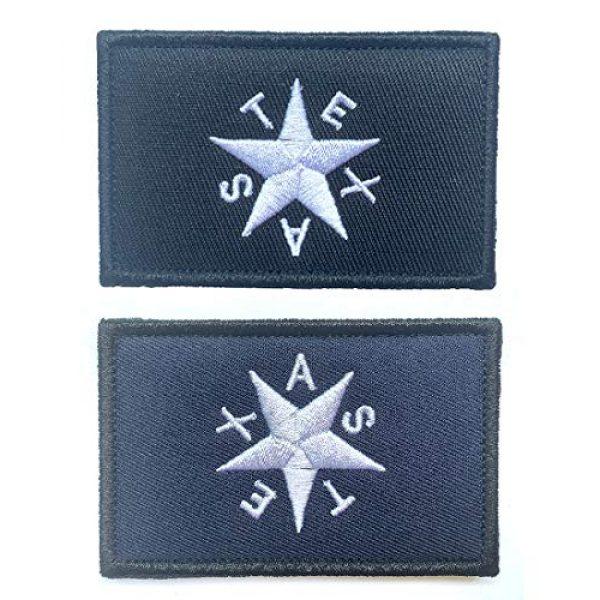 Antrix Airsoft Morale Patch 1 Antrix 2 Pcs Texas Star Tactical Military Embroidered Uniform Emblem Applique Patch Hook and Loop Emblem Patch for Backpacks Caps Hats Vests Bags