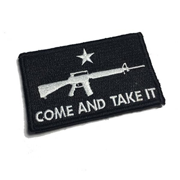 Empire Tactical USA Airsoft Morale Patch 1 Black Tactical AR-15 Come and Take It Tactical Military Morale Patch (Hook/Loop)
