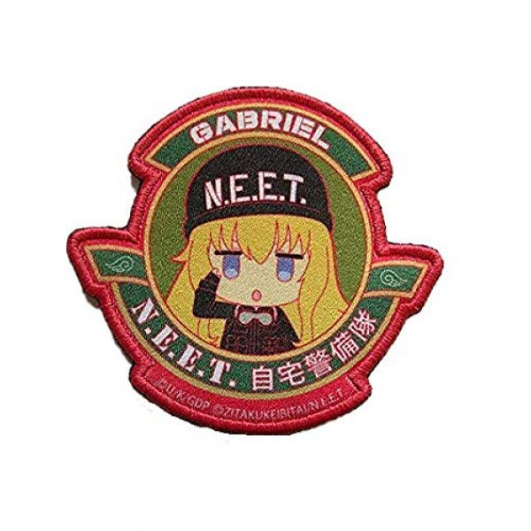 Embroidery Patch Airsoft Morale Patch 1 Japanese Anime Not Employment Embattled Team NEET Military Hook Loop Tactics Morale Patch