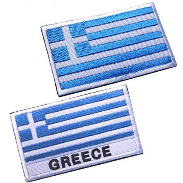 Tactical Embroidery Patch Airsoft Morale Patch 1 2pcs Greece Flag Embroidery Patch Military Tactical Morale Patch Badges Emblem Applique Hook Patches for Clothes Backpack Accessories
