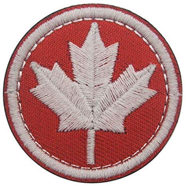 Kseen Airsoft Morale Patch 5 3 Pieces Canada Flag Patch Canadian Tactical Morale National Patches Sew On Military Emblem Embroidered Badge Applique Hook and Loop Shoulder