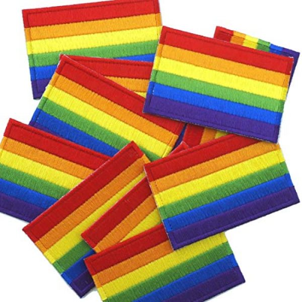 Graphic Dust Airsoft Morale Patch 3 Graphic Dust Rainbow Flag Sign Gay LGBT Lesbian Embroidered Iron on Patch Logo Gay Pride Festival Rights Love DIY Heart Sign Symbol