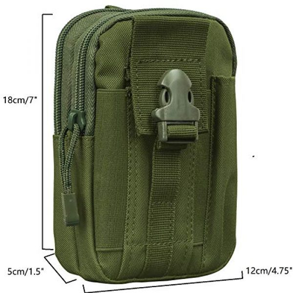 Goodforalllilewen Tactical Pouch 2 Goodforalllilewen Tactical Waist Pack,Molle Pouch with Zipper,Pouch for Belt,Fanny Pack Pocket for Sports Travel Hiking Running Cycling Camping,Backpack Accessories Adjustable for Men and Women