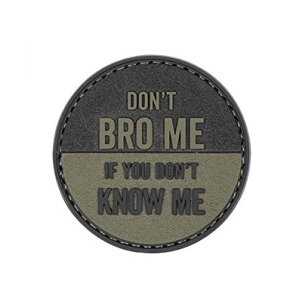 """5ive Star Gear Airsoft Morale Patch 1 5ive Star Gear """"Don't Bro Me Round Morale Patch, One Size, Multi-Colored"""