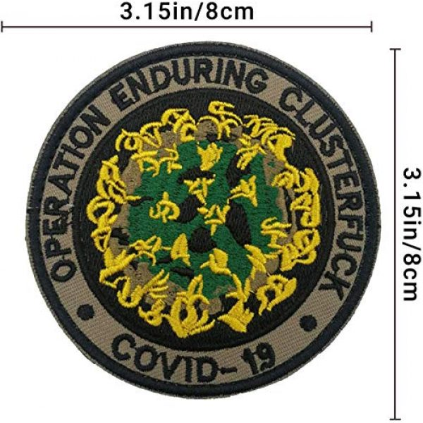 APBVIHL Airsoft Morale Patch 2 4 PCS Operation Enduring Cluster Fuck Outbreak Team Response Embroidered Patch, Brotherhood Essential Workers Embroidery Patches, Tactical Military Morale Applique Badge Fastener Hook and Loop Backing