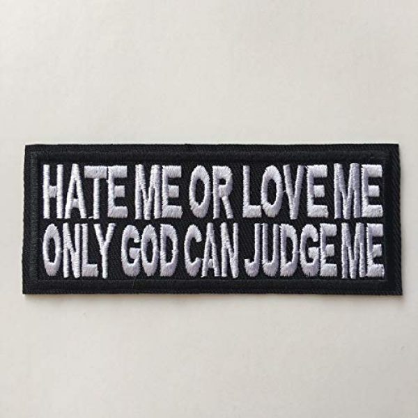 Hng Kiang Hu Airsoft Morale Patch 3 Hate Me Or Love Me Only God Can Judge Me Embroidered Iron On Sew On Morale Funny Patch