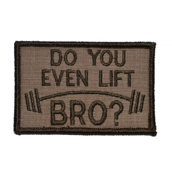 Tactical Gear Junkie Airsoft Morale Patch 1 Do You Even Lift Bro 2x3 Patch - Coyote Brown