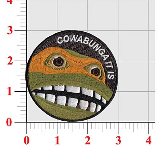 Janhop Airsoft Morale Patch 2 4PCS Teenage Mutant Ninja Turtles Tactical Hook-Backed Morale Patch, 3Inch