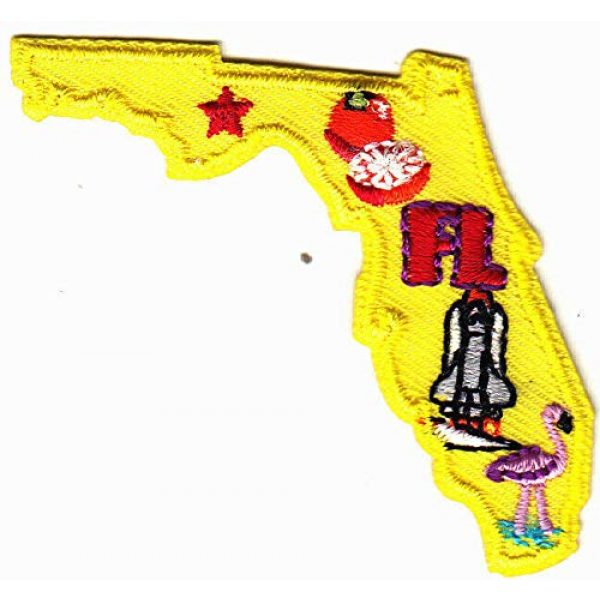 Generic Airsoft Morale Patch 1 FLORIDA STATE SHAPE Iron On Patch
