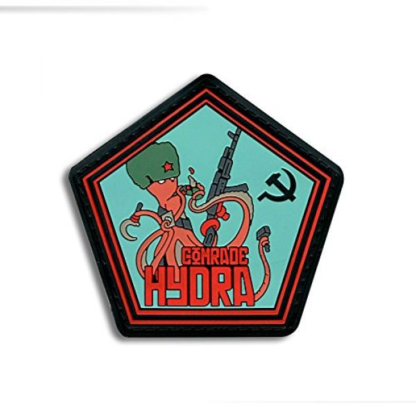 BASTION Airsoft Morale Patch 1 Bastion Tactical Combat Badge PVC Morale Patch Hook and Loop Patch - Comrade Hydra