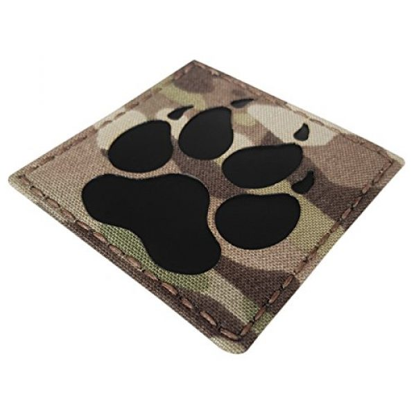Tactical Freaky Airsoft Morale Patch 1 Multicam Infrared IR K9 Dog Handler Paw K-9 3x3 Tactical Morale Hook-and-Loop Patch