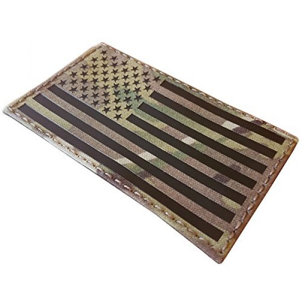 Tactical Freaky Airsoft Morale Patch 2 Big 3x5 Multicam Infrared IR USA American Flag IFF Tactical Morale Touch Fastener Patch