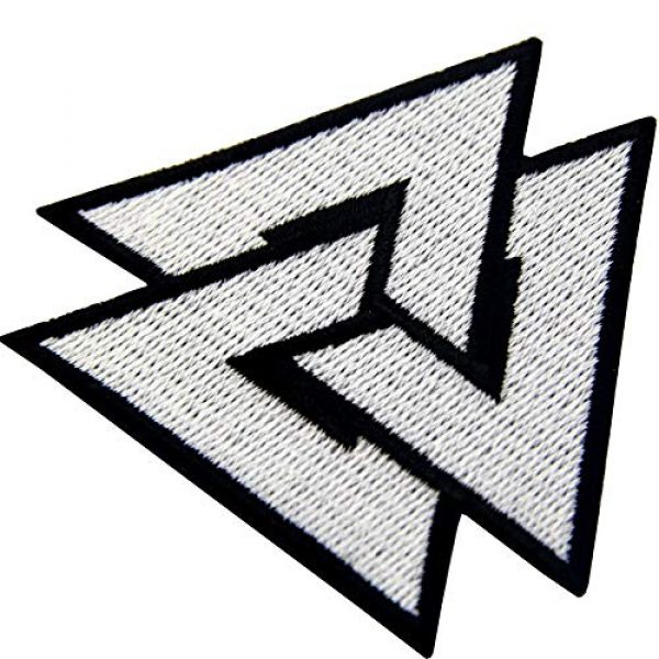 EmbTao Airsoft Morale Patch 5 EmbTao Glow in Dark Valknut Triangle Symbol Viking Norse Rune Morale Tactical Iron On Sew On Patch