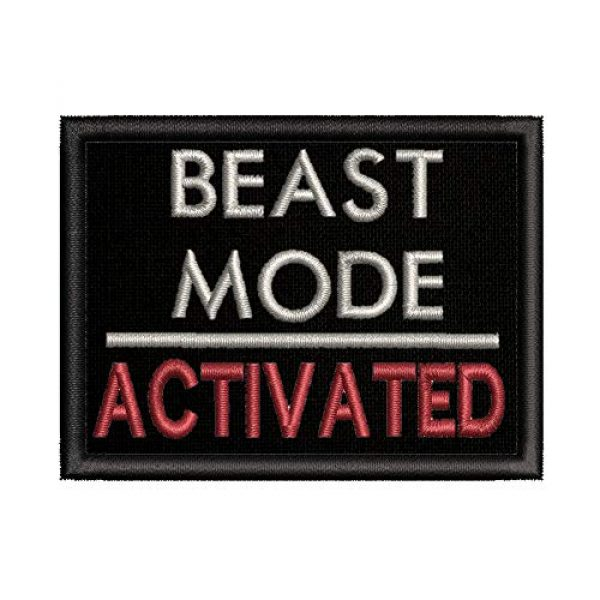 """Appalachian Spirit Airsoft Morale Patch 1 Beast Mode On Military Morale Patch Tactical Emblem Iron/Sew On Patches-3.5x2.2"""""""