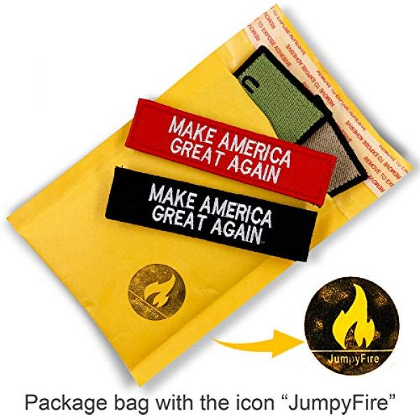 JumpyFire Airsoft Morale Patch 7 JumpyFire Tactical USA Army Velcro Patch, 4 PCS Make America Great Again Embroidered Military Morale Patches for Backpack Hat Jacket Jeans Uniform