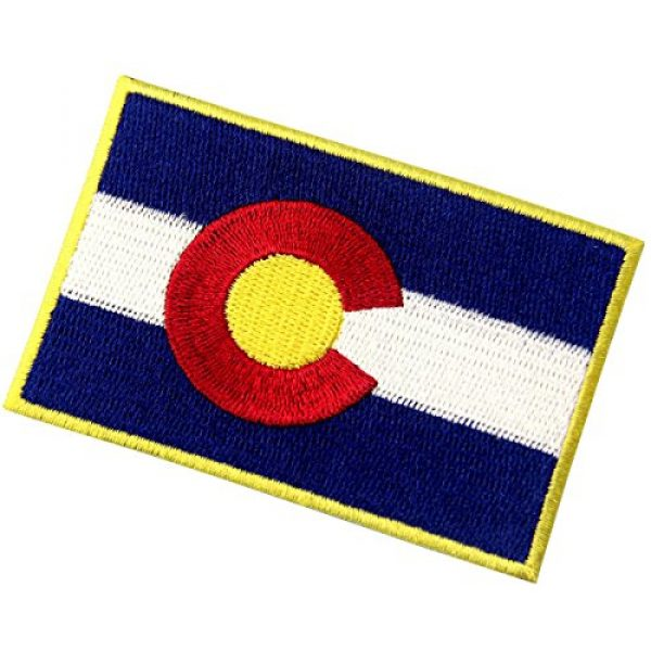 EmbTao Airsoft Morale Patch 3 Colorado State Flag CO Emblem Embroidered Iron On Sew On Patch
