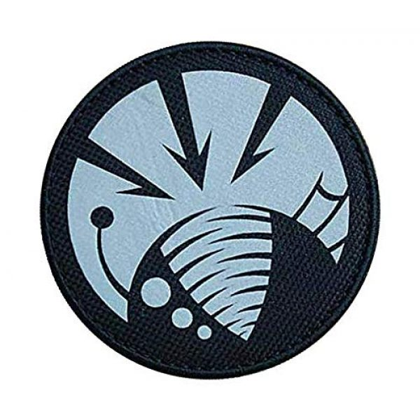 """Embroidery Patch Airsoft Morale Patch 2 SCP Foundation Special Containment Procedures Foundation SCP Mobile Task Forces Gamma-6 Deep Feeders"""" Military Hook Loop Tactics Morale Reflective Patch"""